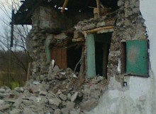 Gajgonyában kidőlt egy tanya fala