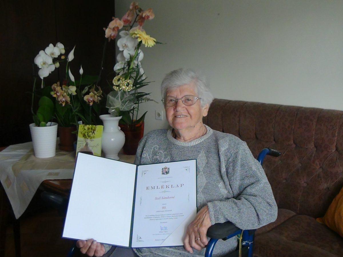 Széll Sándorné 90 éves