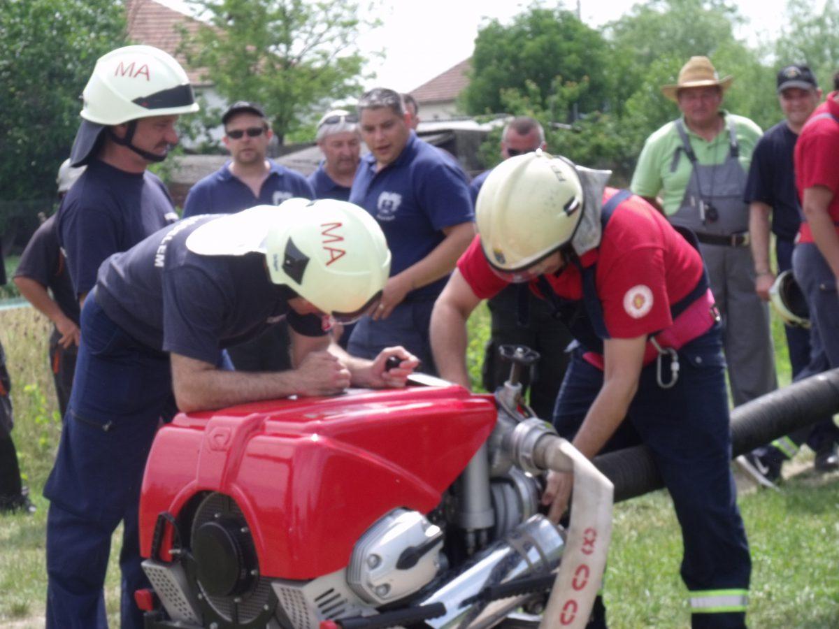 Megyei tűzoltóverseny Maroslelén