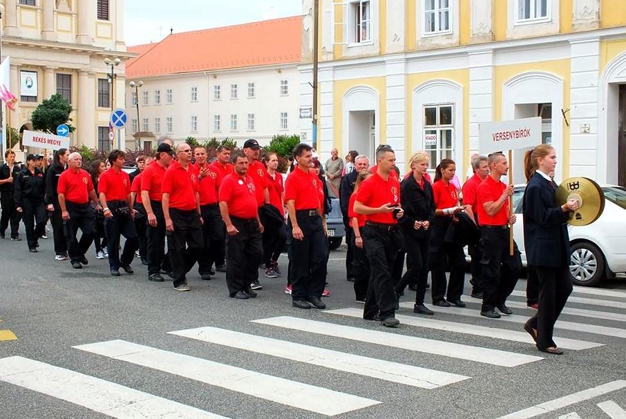 Balástyai versenybíró az Országos Ifjúsági Tűzoltóversenyen