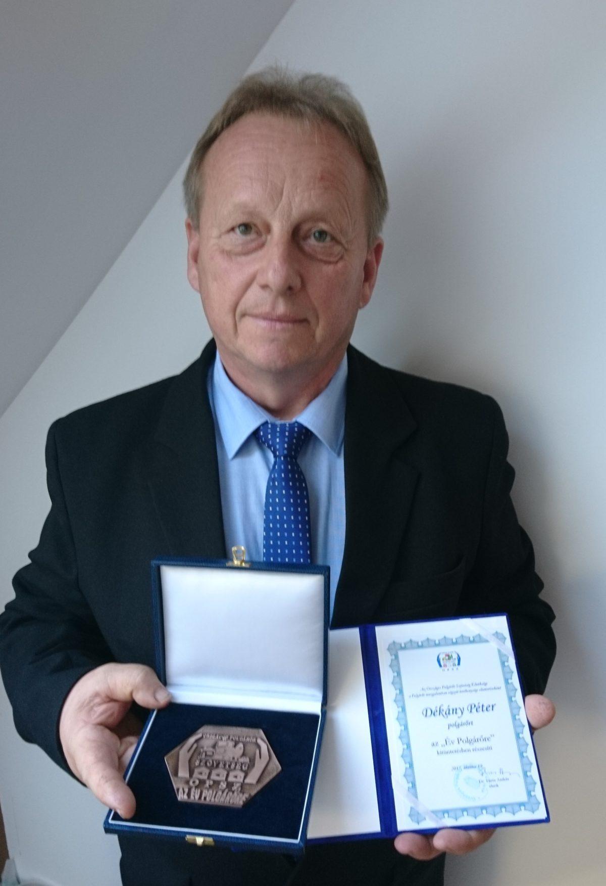 Kitüntetést kapott Dékány Péter, a Balástyai Polgárőr Egyesület elnöke