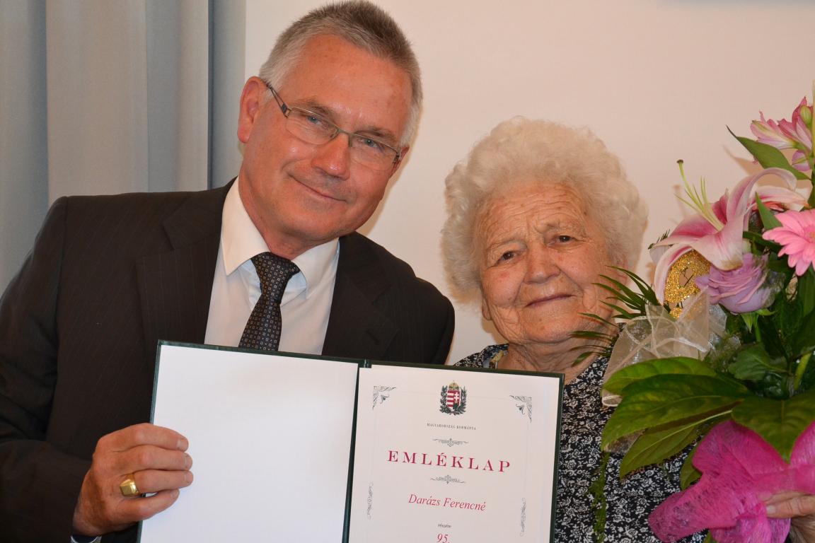 Darázs Ferencné 95 éves