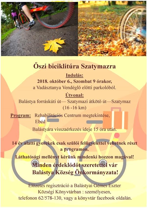Őszi biciklitúra Szatymazra