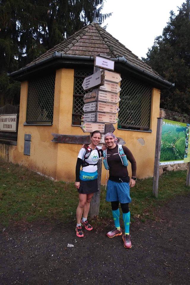 Nagy Sára és Bódi István együtt teljesítette A KÖR-t a Börzsönyben