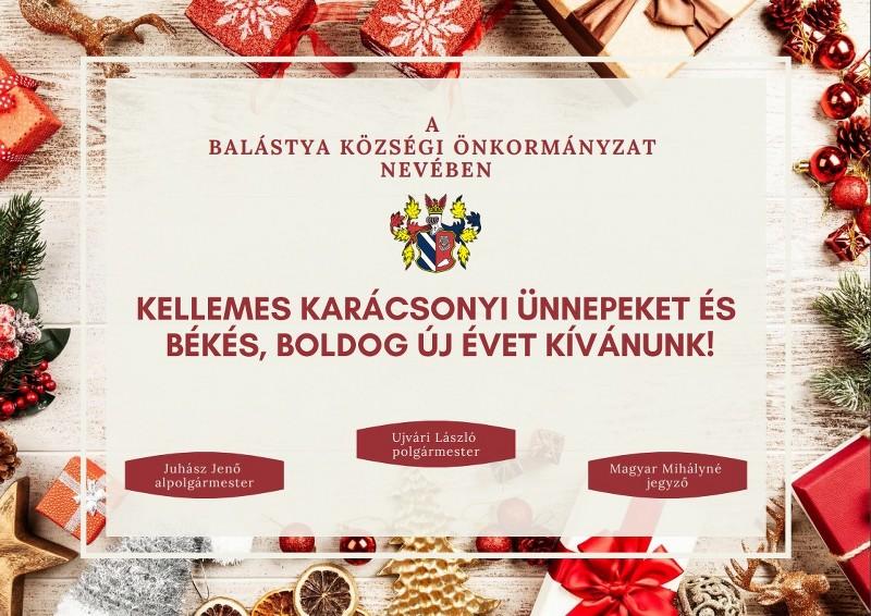 Kellemes karácsonyi ünnepeket és békés, boldog új évet kívánunk!