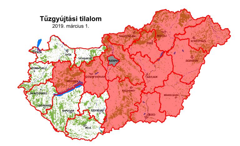 Tűzgyújtási tilalom van március 1-től Csongrád megyében is!
