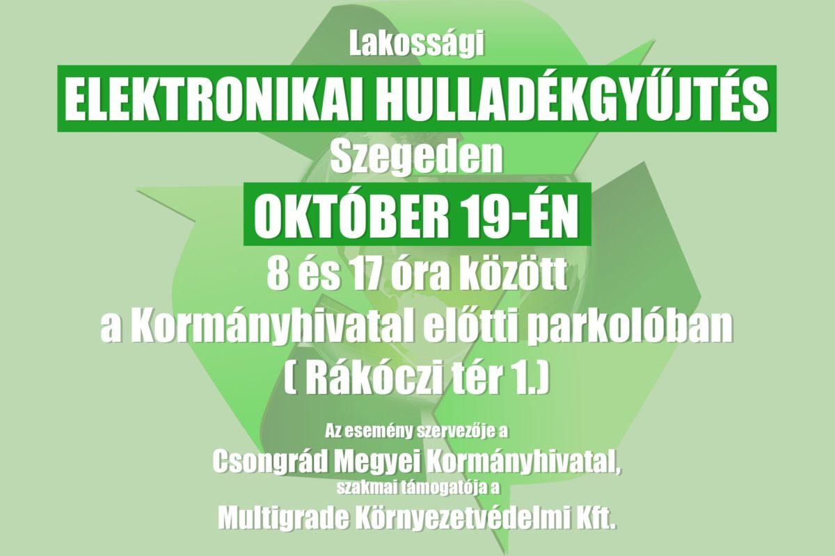 Őszi elektronikai hulladékgyűjtés lesz október 19-én Szegeden